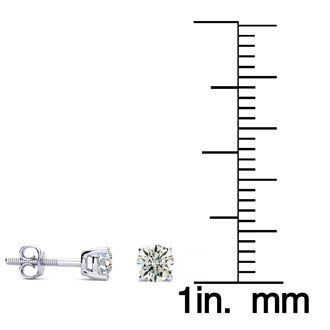 1/2ct Diamond Stud Earrings in 14k White Gold, J/K Color, SI3 Clarity