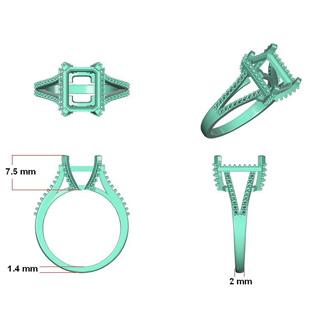 4 3/4 Carat Sapphire and Halo Diamond Ring In 14 Karat White Gold