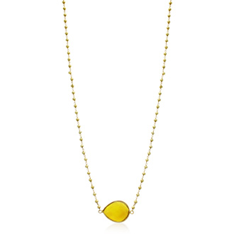 60 Carat Citrine Endless Necklace In 14K Yellow Gold Over Sterling Silver, 34 Inches