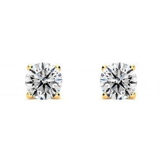 Genuine, Natural, Earth-Mined Colorless 1/3 Carat Diamond Stud Earrings, E-F Diamonds. Very White, Very Shiny!