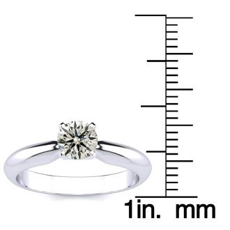 1/2ct Diamond Engagement Ring in White Gold, BLOWOUT