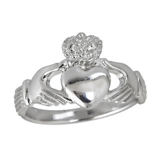 Sterling Silver Elegant Claddagh Ring