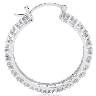 1/2 Carat Natural Raw Diamond Hoop Earrings, 1 Inch. Our Most Popular 1/2 Carat Hoop Earrings!