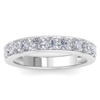 1ct Diamond Band in 14k White Gold