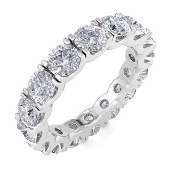 14 Karat White Gold 3 3/4 Carat Diamond Eternity Ring