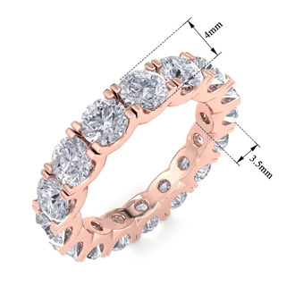 14 Karat Rose Gold 4 Carat Diamond Eternity Ring
