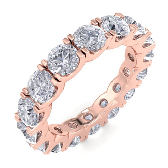 14 Karat Rose Gold 4 Carat Diamond Eternity Ring