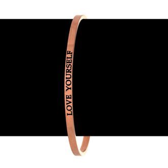 "Rose Gold ""LOVE YOURSELF"" Bangle"