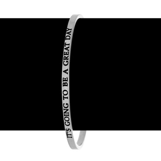 """Silver """"IT'S GOING TO BE A GREAT DAY"""" Bangle"""