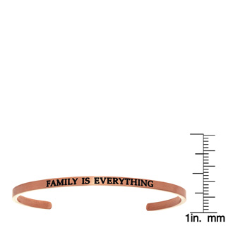 """Rose Gold """"FAMILY IS EVERYTHING"""" Bangle"""