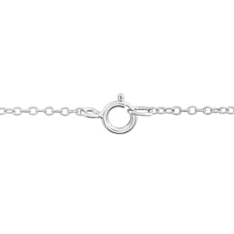 S Initial Diamond Necklace In Sterling Silver, 18 Inches