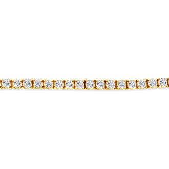 6 Inch 14K Yellow Gold 4  3/8 Carat Diamond Tennis Bracelet