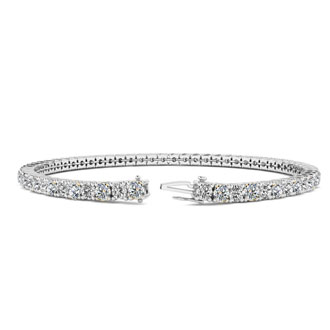6.5 Inch 14K White Gold 3 3/5 Carat Diamond Tennis Bracelet