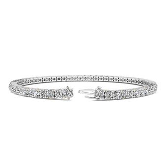 3 1/2 Carat Diamond Tennis Bracelet In 14 Karat White Gold, 6 1/2 Inches