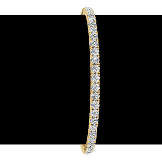 7 Inch 14K Yellow Gold 4 Carat Diamond Tennis Bracelet