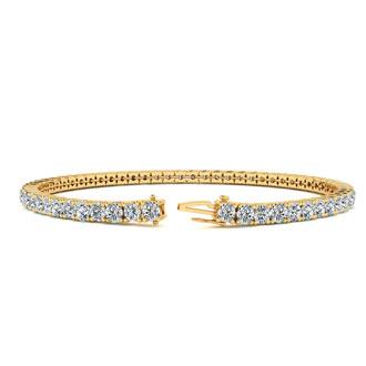 8.5 Inch 14K Yellow Gold 4 3/4 Carat Diamond Tennis Bracelet