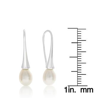 8mm Freshwater Cultured Pearl Drop Earrings