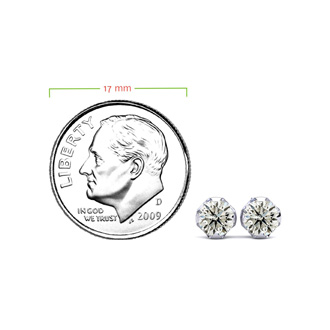 Nearly 1/2ct Diamond Stud Earrings in 14k White Gold.  Everyone Loves These Beautiful Diamond Earrings! Just The Right Size!