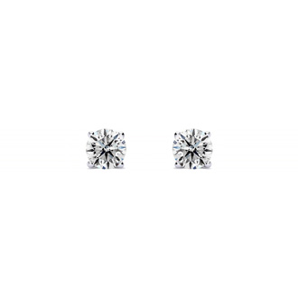 Colorless 1/4 Carat Diamond Stud Earrings in 14k White Gold