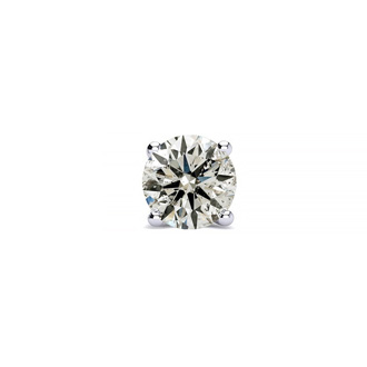 Classic 1/3ct Single Diamond Stud Earring in 14k White Gold