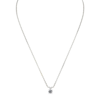 Nearly 1/2ct Colorless Diamond Solitaire Pendant in 14k White Gold. Fantastic Value!