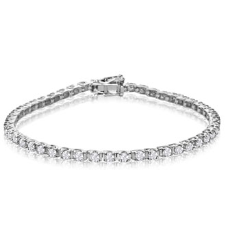 3 Carat Diamond Tennis Bracelet In White Gold