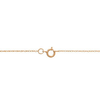R Initial Necklace In 18K Rose Gold With 18 Diamonds