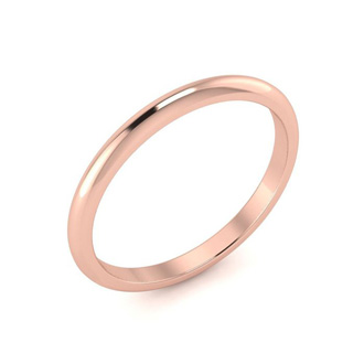 14K Rose Gold 2MM Ladies and Mens Wedding Band, Size 13, Free Engraving