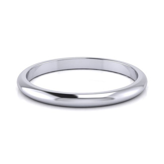 14K White Gold 2MM Ladies and Mens Wedding Band, Size 11, Free Engraving