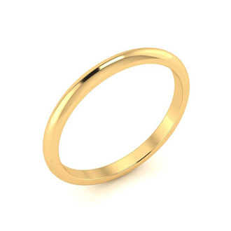 14K Yellow Gold 2MM Ladies and Mens Wedding Band, Size 5, Free Engraving