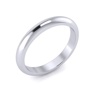10K White Gold 3MM Ladies and Mens Wedding Band, Size 11.5, Free Engraving