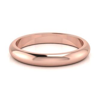 14K Rose Gold 3MM Ladies and Mens Wedding Band, Size 13.5, Free Engraving
