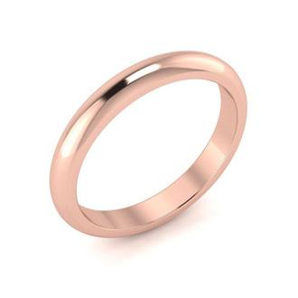 18K Rose Gold 3MM Ladies and Mens Wedding Band, Size 11, Free Engraving