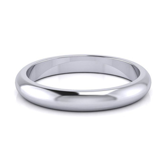 Platinum 3MM Ladies and Mens Wedding Band, Size 8.5, Free Engraving