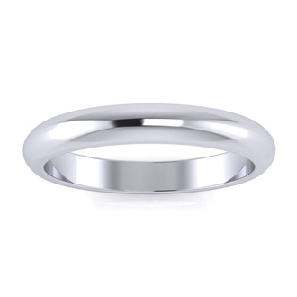 Platinum 3MM Ladies and Mens Wedding Band, Size 9, Free Engraving