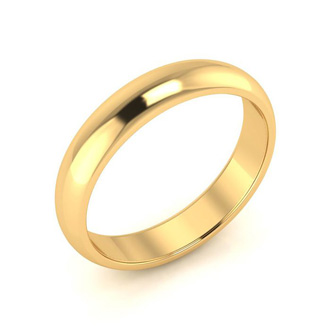 10K Yellow Gold 4MM Ladies and Mens Wedding Band, Size 3, Free Engraving