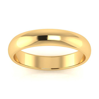 14K Yellow Gold 4MM Ladies and Mens Wedding Band, Size 11.5, Free Engraving