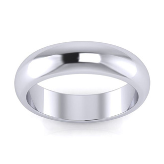 10K White Gold 5MM Ladies and Mens Wedding Band, Size 12.5, Free Engraving