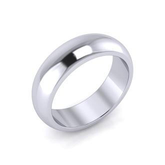 Platinum 6MM Ladies and Mens Wedding Band, Size 10.5, Free Engraving