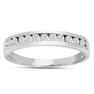 The Perfect 1/4ct Diamond Band in 14k White Gold In Any Size