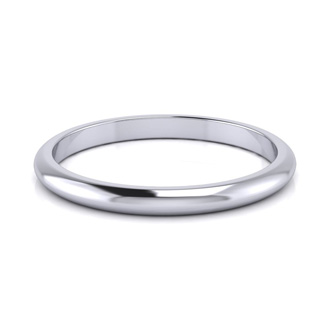 10K White Gold 2MM Heavy Comfort Fit Ladies and Mens Wedding Band, Size 9.5, Free Engraving