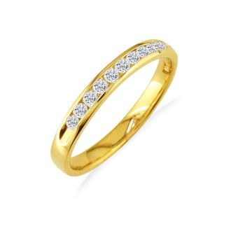 The Perfect 1/4ct Diamond Band in 14k Yellow Gold In Any Size