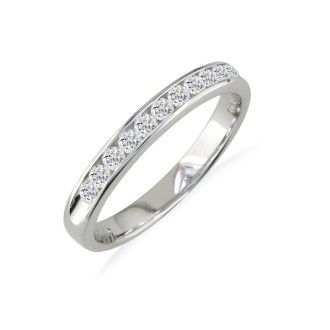 The Perfect 1ct Diamond Band in 14k White Gold In Any Size