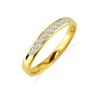 The Perfect 1ct Diamond Band in 14k Yellow Gold In Any Size