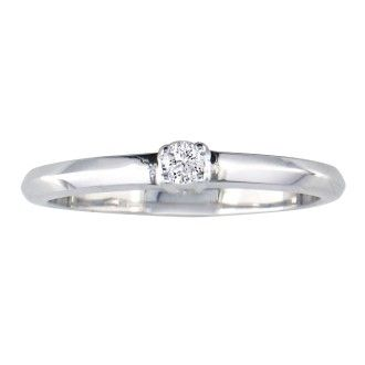 .06ct Diamond Promise Ring 10k White Gold