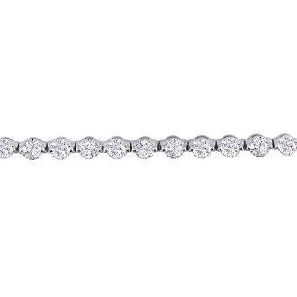7 Carat Diamond Tennis Bracelet In 14 Karat White Gold