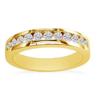 1/2ct Round Diamond Band in 10k Yellow Gold