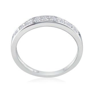 1/4ct Diamond Band in 10k White Gold