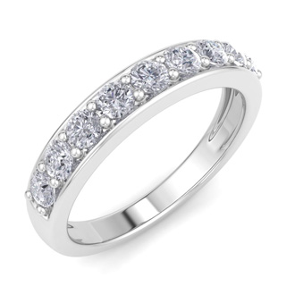 2/3ct Diamond Band in 10k White Gold