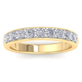 2/3ct Diamond Band in 10k Yellow Gold